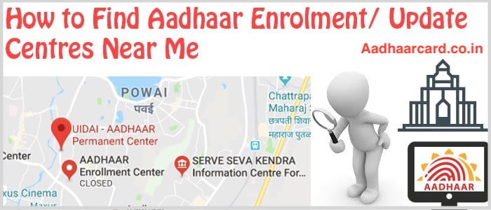 How to Find Aadhaar Enrolment Centres and Aadhaar Update Centres Easily