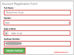Fill in the Digitize India Registeration Form