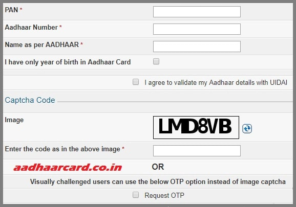 link aadhaar with pan step 2